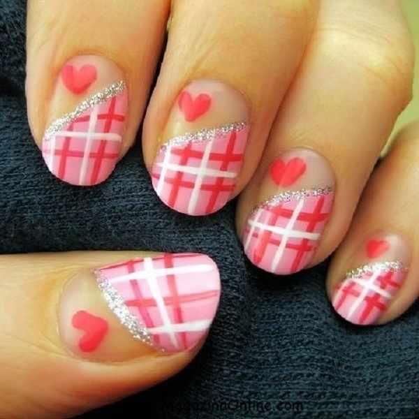 hot pink nail designs 32