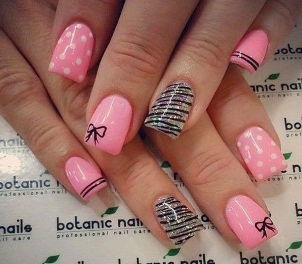nail Pink & Puffy