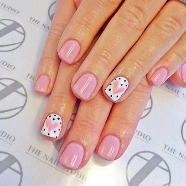 hot pink nail designs 40