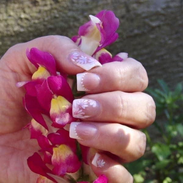 hot pink nail designs 41]