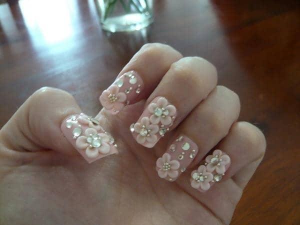 hot pink nail designs 42