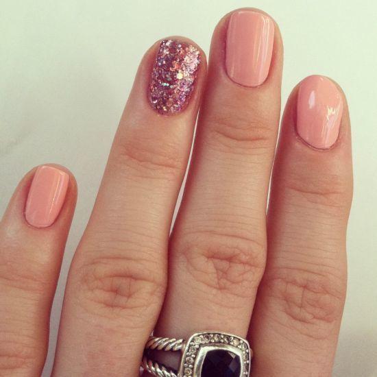 Melon Mania pink nail