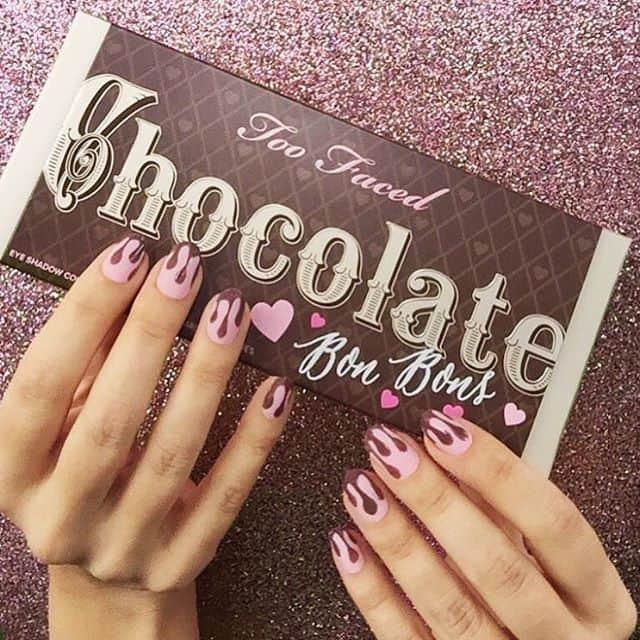 hot pink nail designs 45