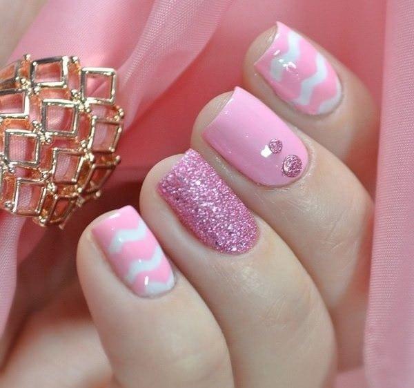 hot pink nail designs 46