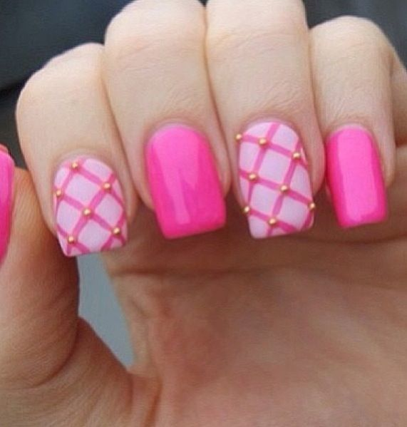 50 hottest pink nail designs trending right now celebrate the spring season with this easter egg like theme for a dashing nail art style it not only symbolized the famous easter holiday that everybody is prinsesfo Choice Image