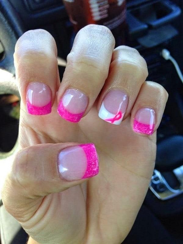hot pink nail designs 6
