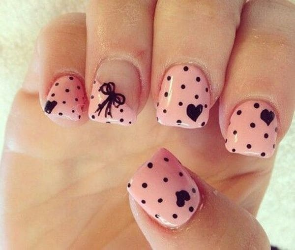 beautiful pink nail