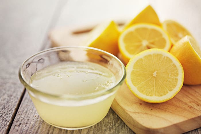 lemon juice will help to whiten the nails