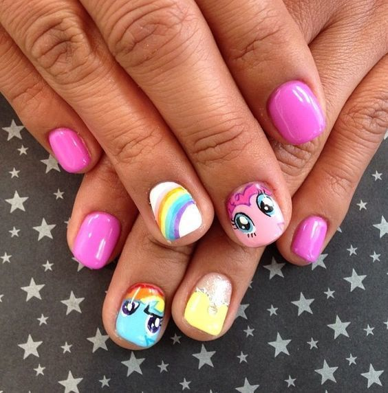 little girl nail designs 15 - 20 Cute & Easy Nail Designs For Little Girls - NailDesignCode