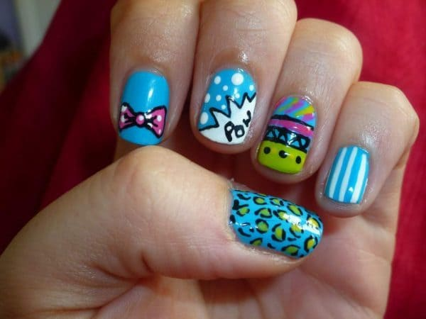 20 cute easy nail designs for little girls naildesigncode little girl nail designs 8 prinsesfo Image collections