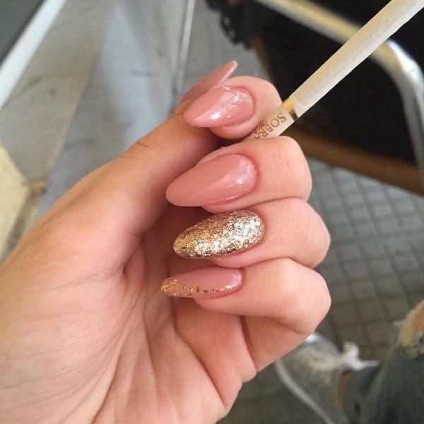 Naturally Chic long nail idea for girl