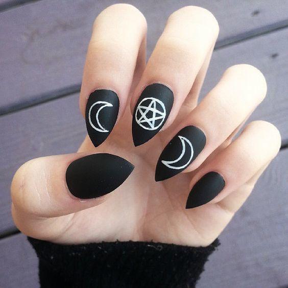 Black Sky Nails long nail designs