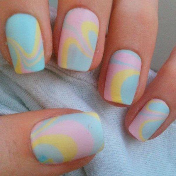 marble nail designs 14