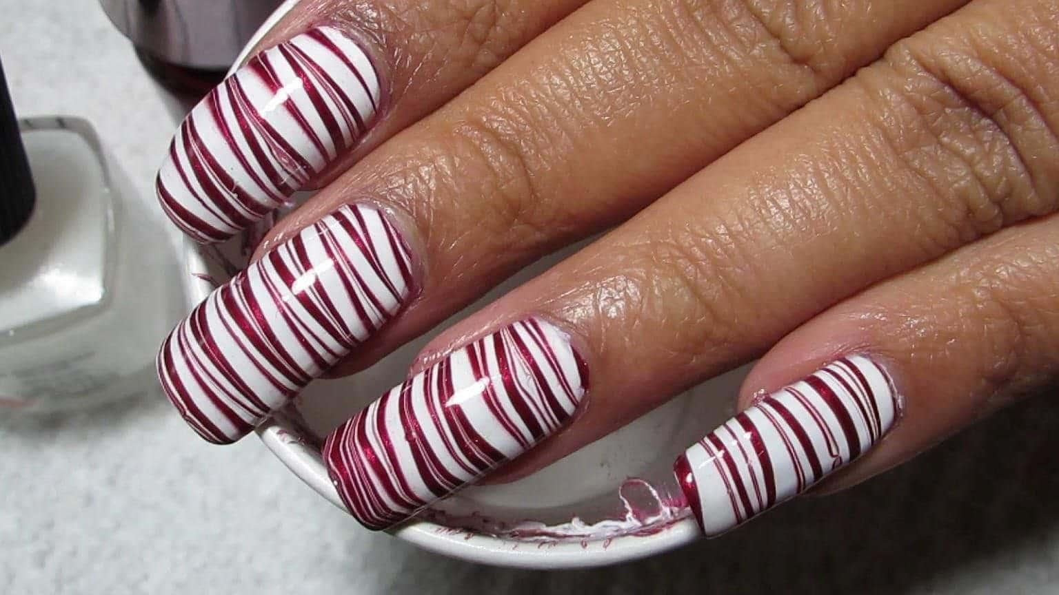 marble nail designs 16