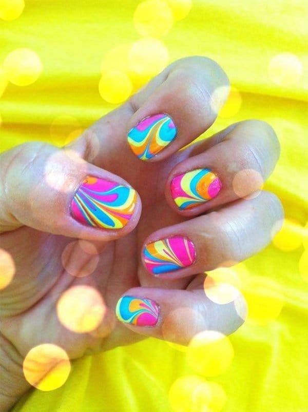 Dancing Lights nail art