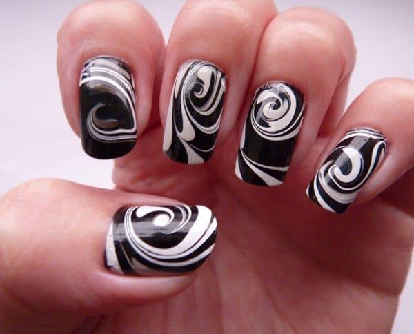 marble nail designs 6