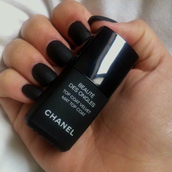 Matte Black matte nail