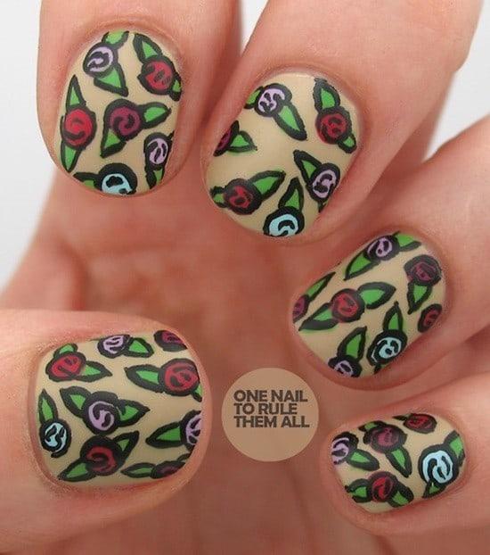 matte nail designs 23