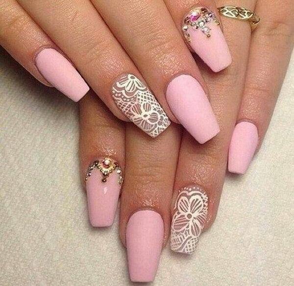 Pink Chic matte nail