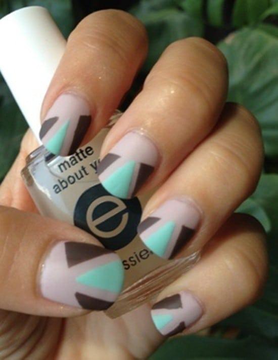 matte nail designs 25