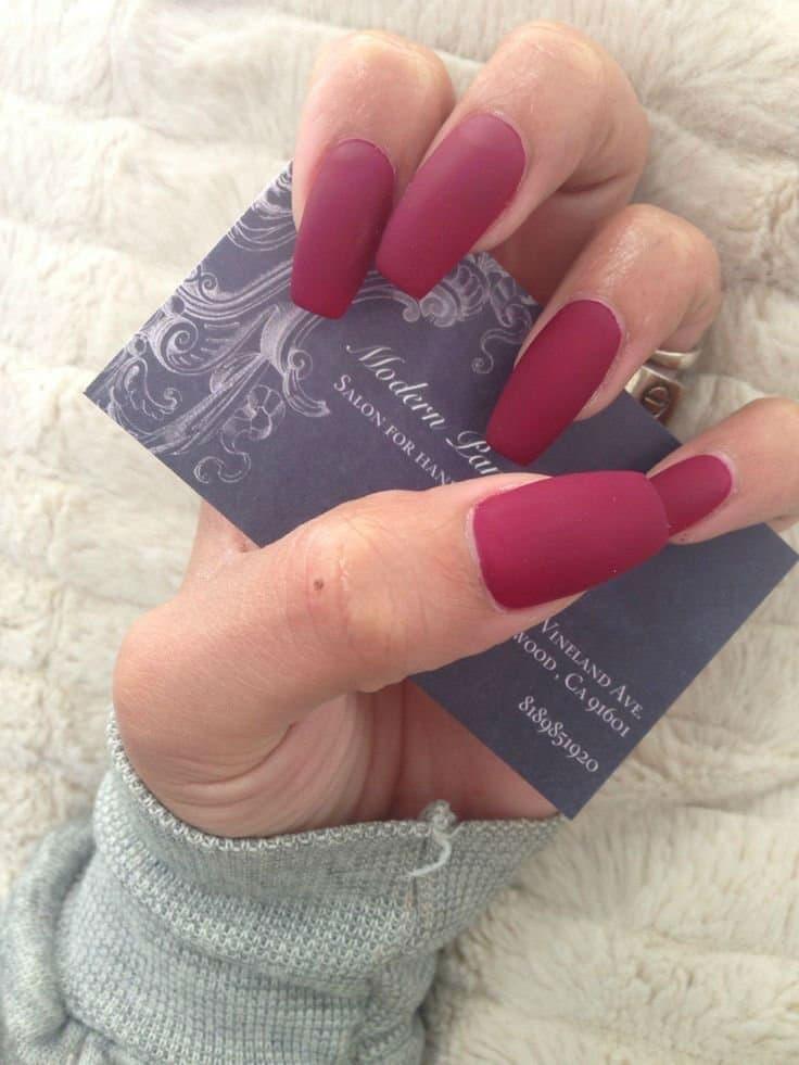 Fuscia Princess nail