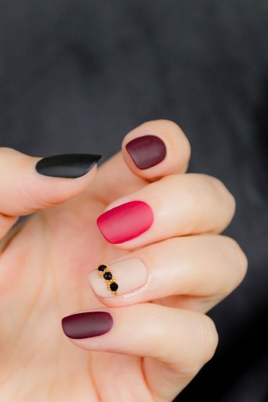 matte nail designs 30