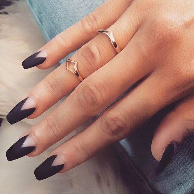 matte nail designs 34