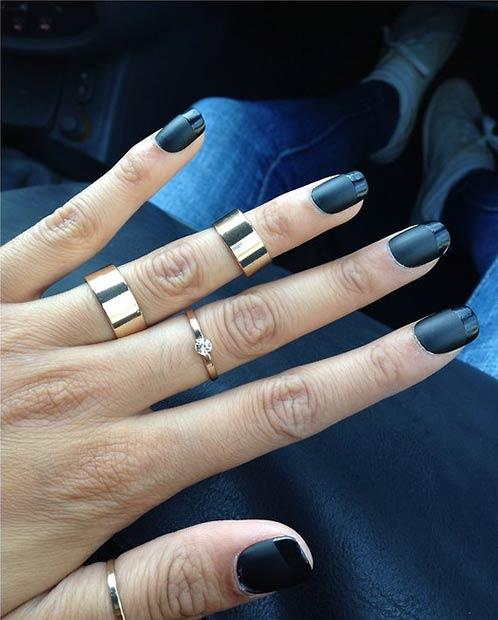 Blue Gems nail
