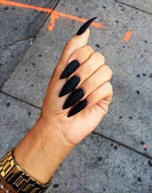 matte nail designs 37