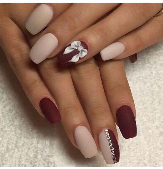 matte nail designs 4 - 70 Dazzling Matte Nail Designs To Wear In 2018