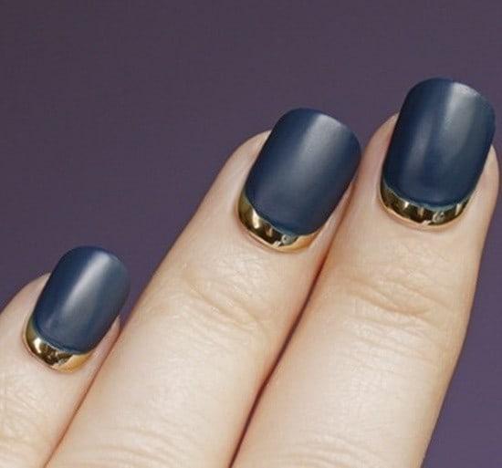 Cobalt Blue matte nail