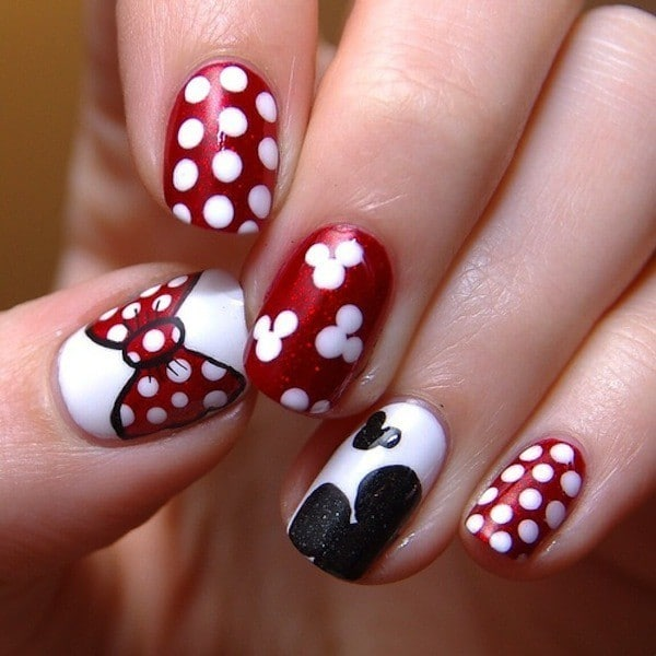 Mickey And Minnie nail idea
