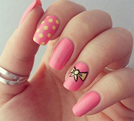 Piglet Pink nail designs for girls