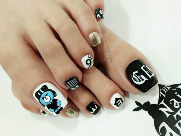 cool Play Boy nail designs for kids