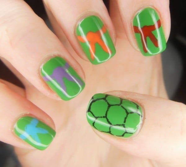 cute green nail designs for kids