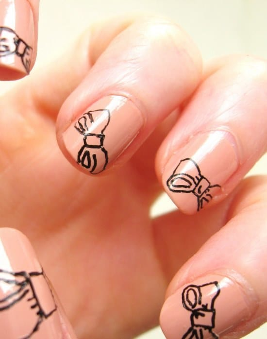 nail designs with bows 7