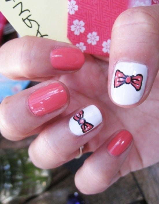 nail designs with bows 9