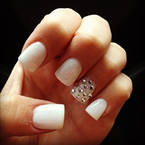 nail designs with diamonds 15 - 20 Startling Nail Designs With Diamonds – NailDesignCode