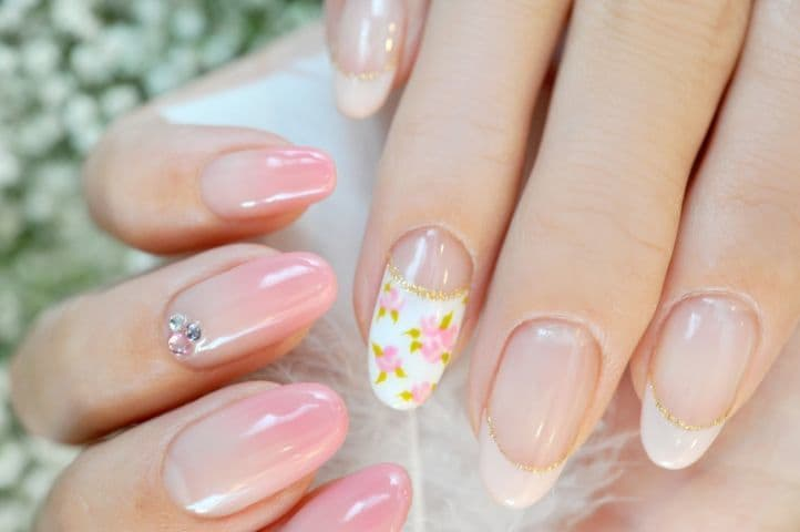 nail designs with rhinestones 1