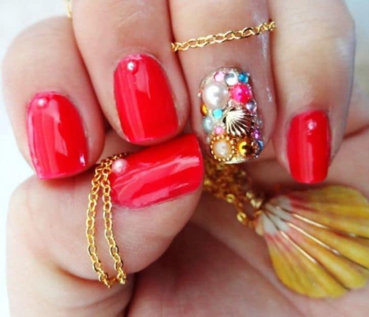 nail designs with rhinestones 12