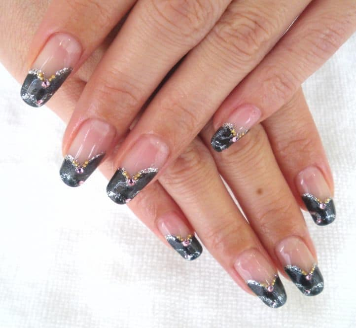 nail designs with rhinestones 15