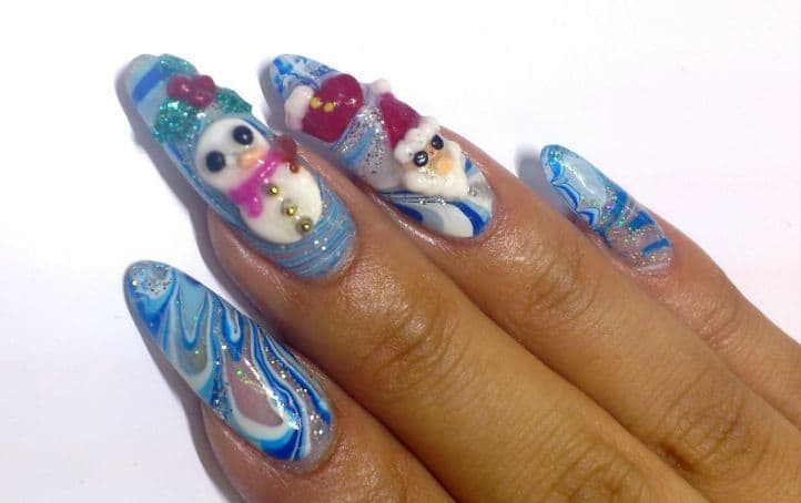 nail designs with rhinestones 22