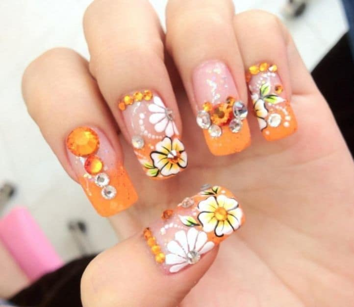 nail designs with rhinestones 3
