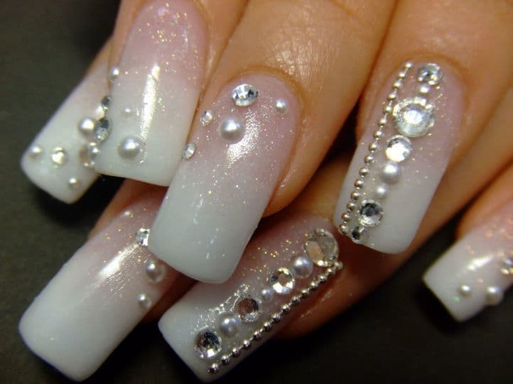nail designs with rhinestones 4
