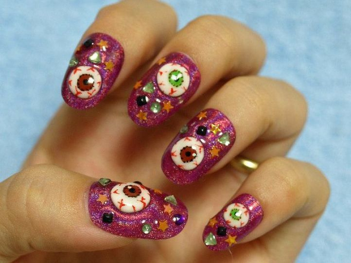 nail designs with rhinestones 5