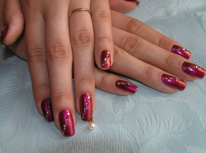 nail designs with rhinestones 6