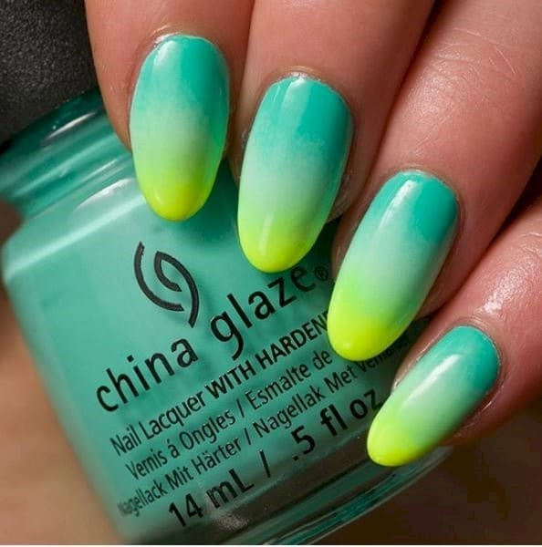 Summer Vibes neon nail art for women