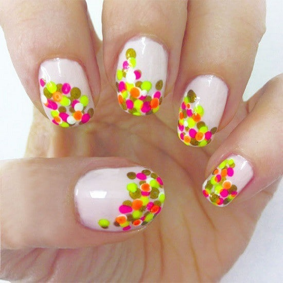 Shooting Stars neon nail style