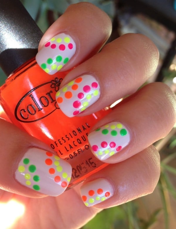 neon nail designs 8 - 10 Captivating Neon Nail Designs - Beautify Your Nails