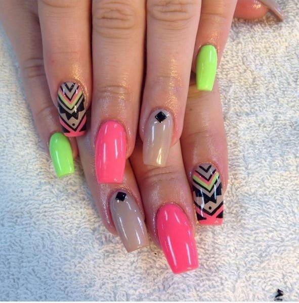neon nail designs 9